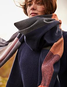 6 ways to wear an Oversized scarf