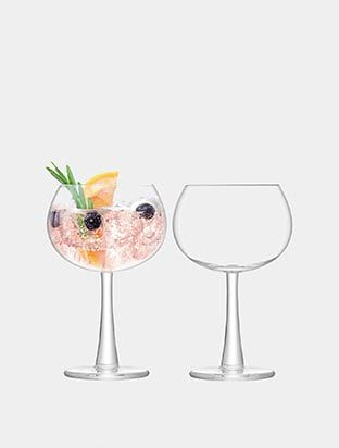 Set of Two Gin Balloon Glasses