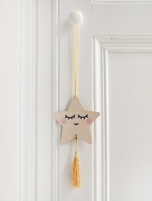PERSONALISED MINI WOODEN STAR WALL HANGING