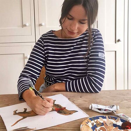 Painting Dogs with Joules Designer Lillie