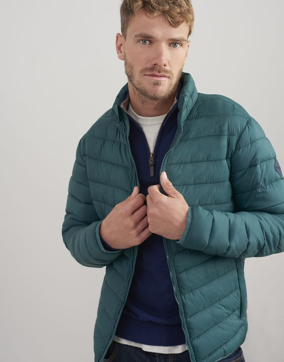 Joules US GO TO Mens Lightweight Padded Jacket DARK GREEN