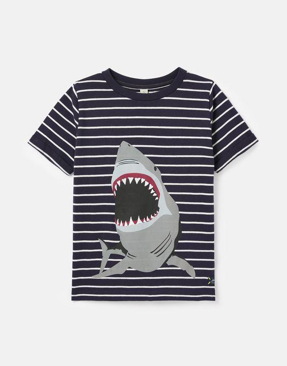 Joules Boys Axel Stripe T-Shirt 1-12 Years - Navy Shark