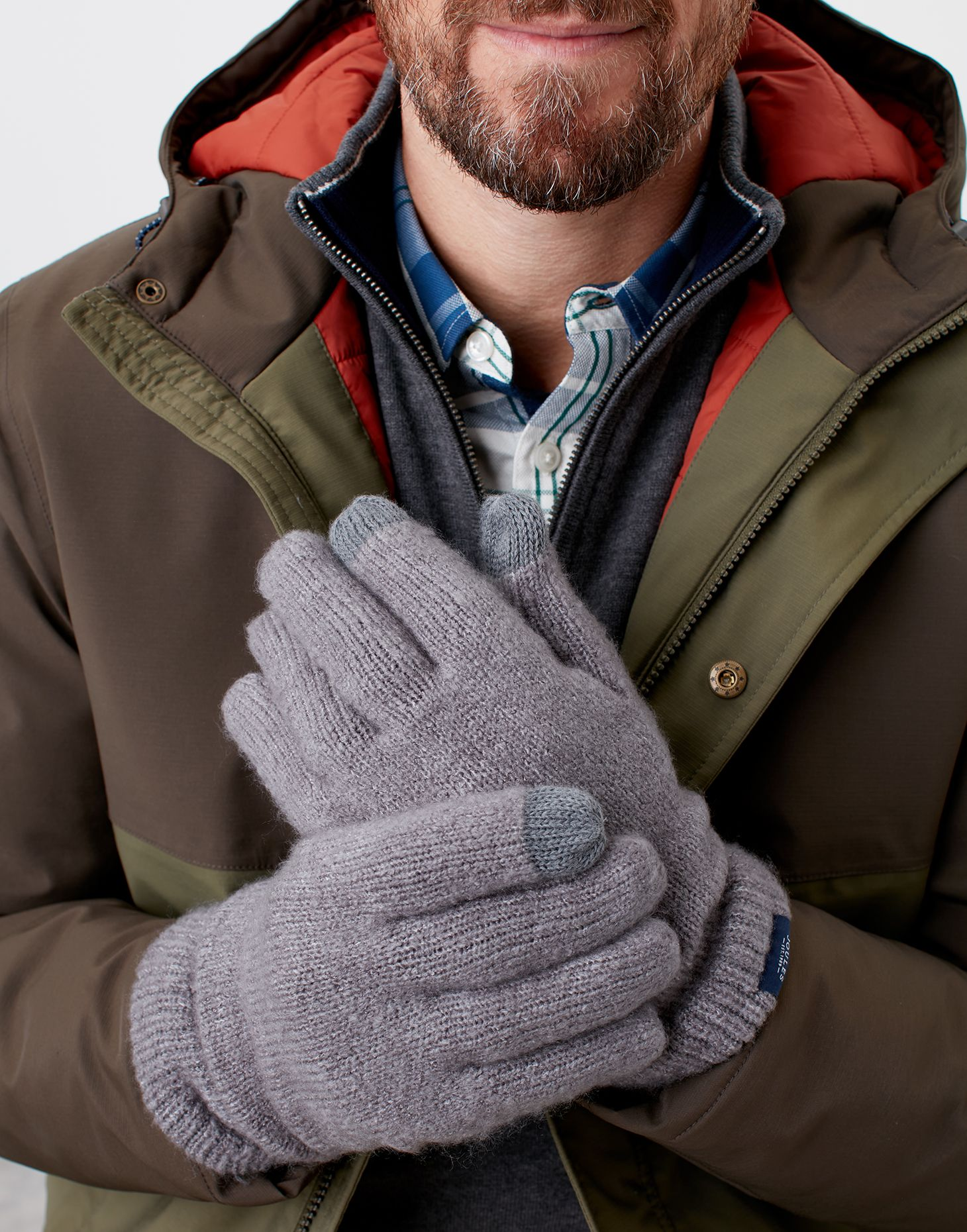 Joules Mens Bamburgh Knitted Touch Screen Warm Winter Gloves