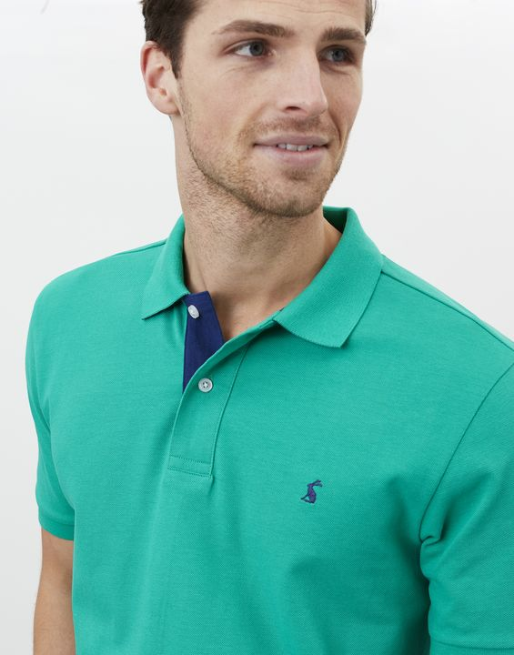 Joules Mens Woody Classic Fit Polo Shirt - Granny Smith