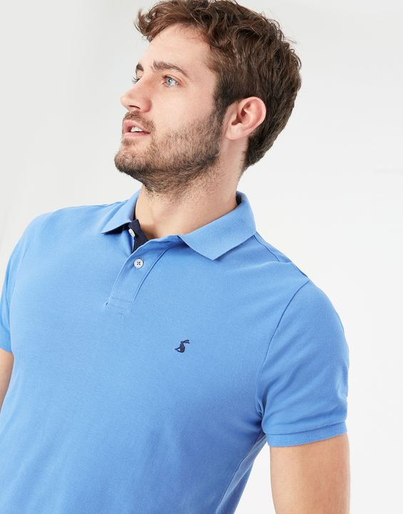 Joules Mens Woody Slim Fit Polo Shirt - Blue