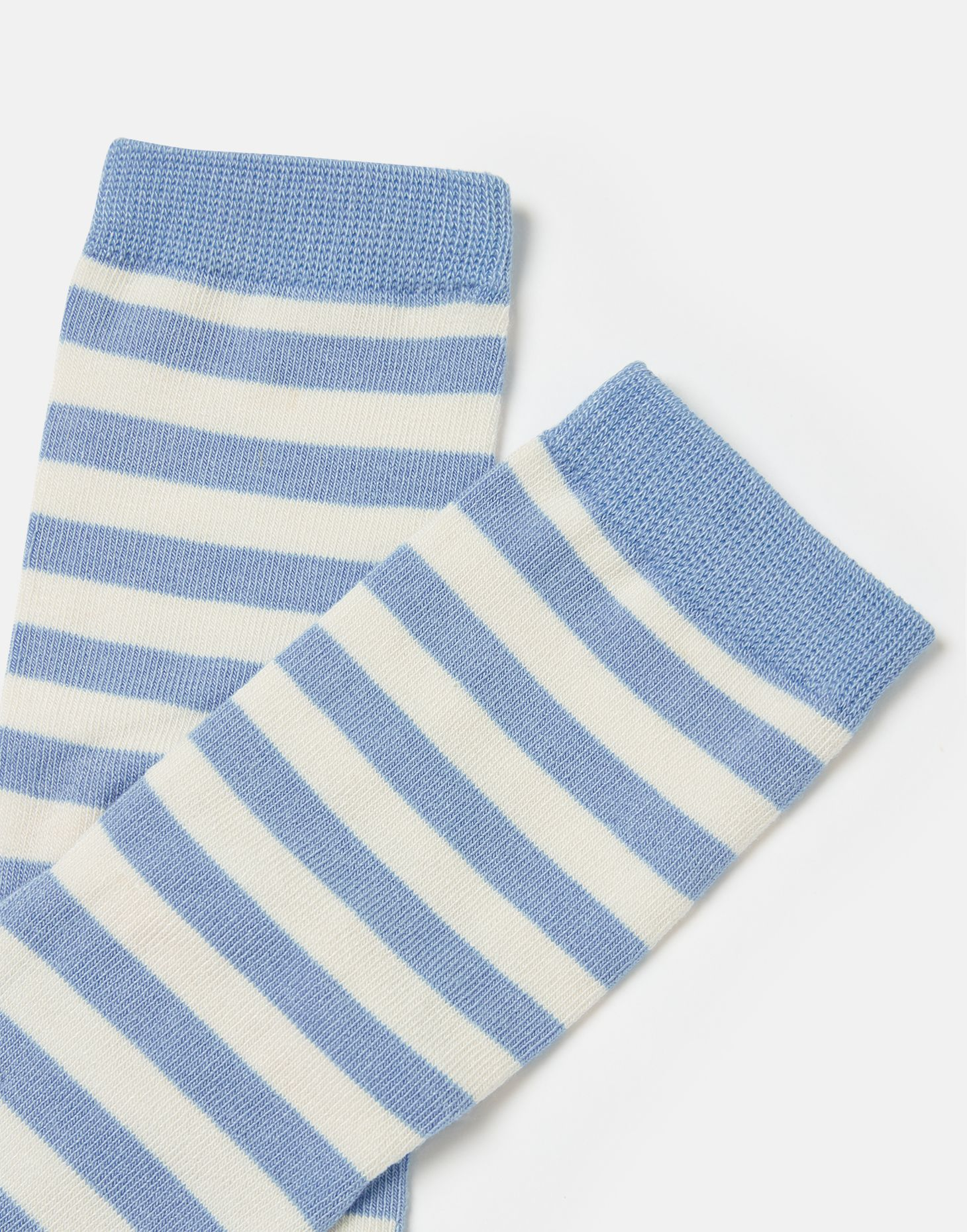 Joules Girls Neat Feet Character Socks - BLUE PUFFIN STRIPE 2
