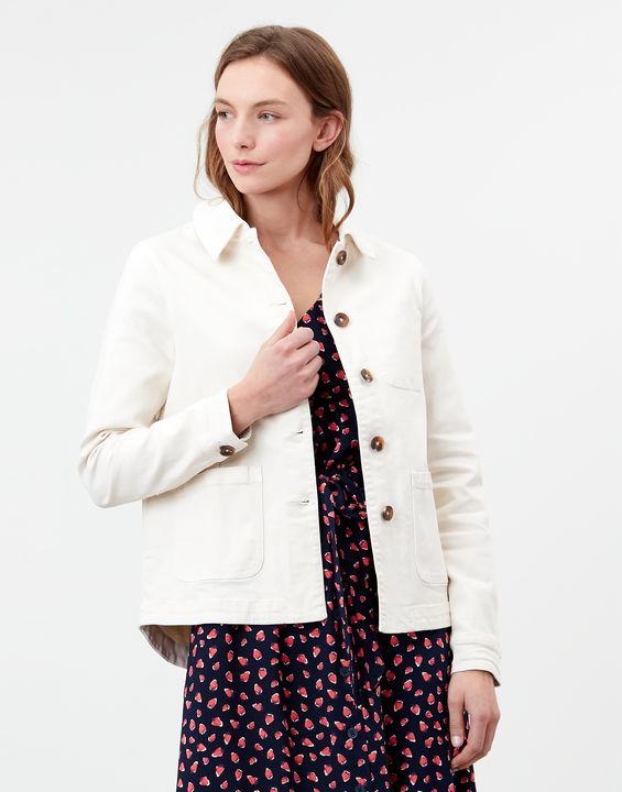 Joules Womens Alice Denim Jacket - White