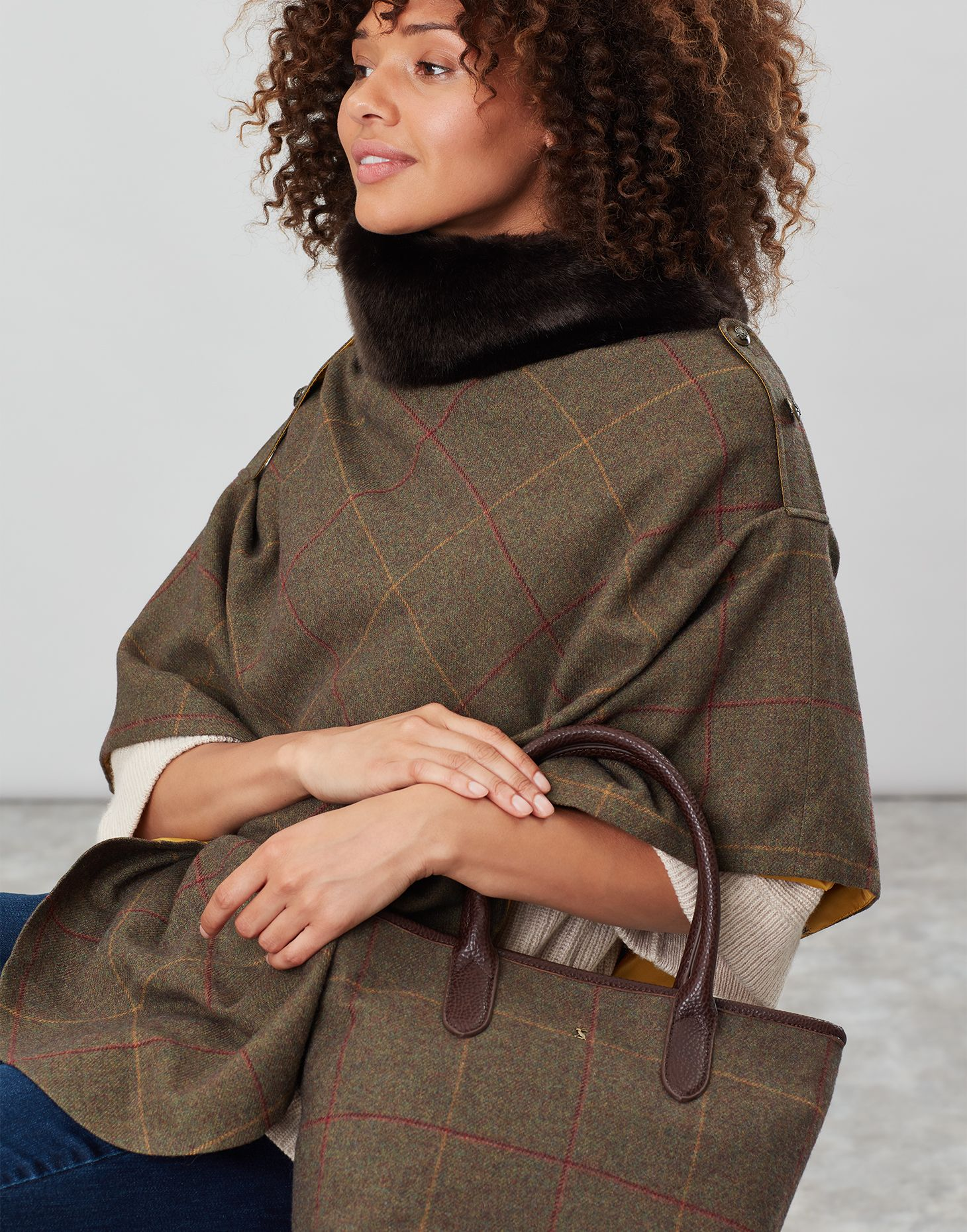 Joules Poncho Donna