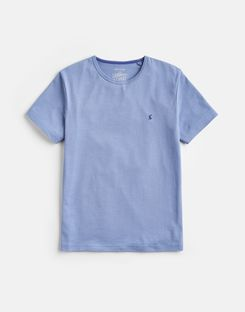 Joules US Laundered Tee Mens Plain Crew Neck T-Shirt BLUE