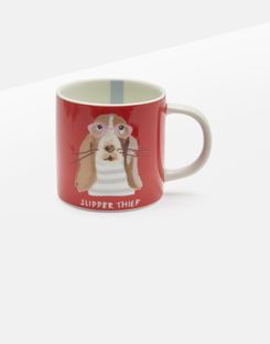 Joules UK Kitchen Cuppa Homeware Single Small Porcelain Printed ORANGE DOG