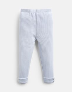 Joules US Lula Baby Girls Rib Leggings ICE BLUE