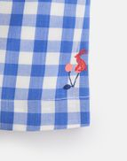 Joules Girls Alice Woven Printed Top 1 6 Years in BLUE CHERRY GINGHAM