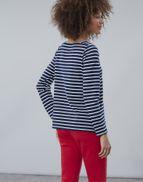 Joules Matilde Ladies Square Neck Jersey Top  Colour Cream Navy Stripe