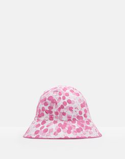 Joules US Sunseeker Baby Girls Reversible Bucket Hat WHITE SMALL FLORAL
