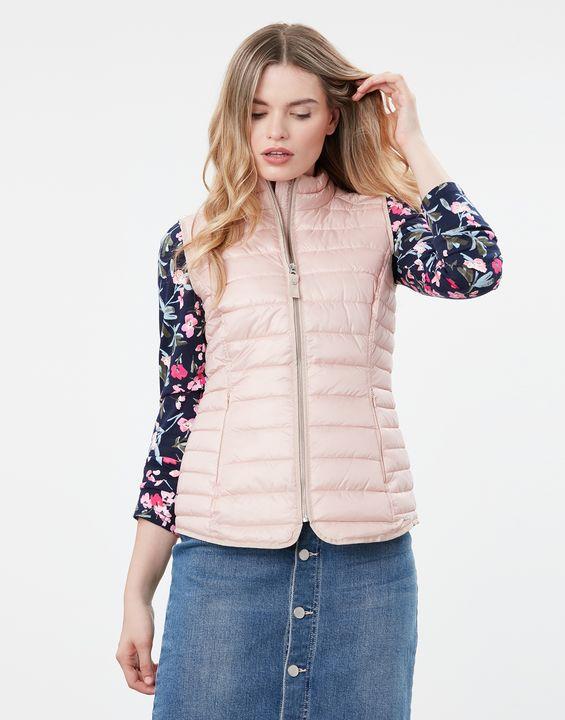 Joules Womens Furlton Padded Vest - Metallic Pink