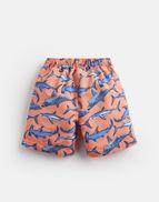 5c740481a3 Joules UK Ocean Older Boys Swim Shorts 1-12 Yr ORANGE SHARKS