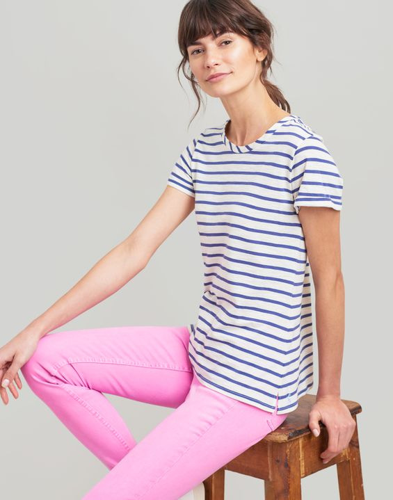 Joules UK Nessa Stripe Womens Lightweight Jersey T-Shirt