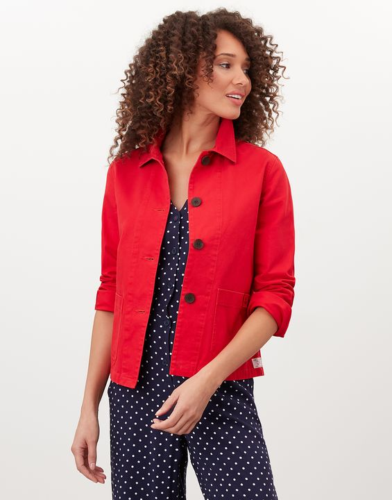 Joules Womens Devon Coastal Jacket - English Red