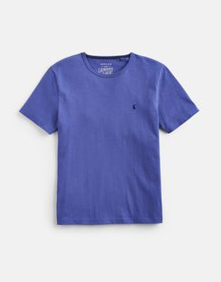 Joules US Laundered Tee Mens Plain Crew Neck T-Shirt DARK BLUE