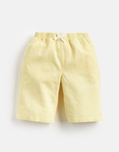 Joules UK Huey Older Boys Linen Mix Woven Short 1-12 Yr YELLOW