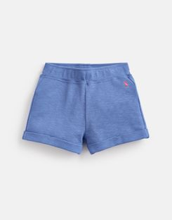 Joules US Kittiwake Older Girls Jersey Shorts 1-12 Yr MID BLUE