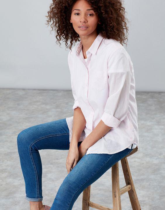 ee6bfbc5cfbc Lucie Printed Stripe Woven Shirt