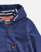 85e9f97fff253 Joules UK Coast Older Girls Waterproof Jacket 3-12 Yr FRENCH NAVY
