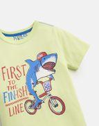Joules Boys Ben Screenprint T shirt Yr in NAVY SPIDER
