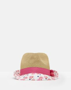 Joules US Pandora Girls Trilby Hat NATURAL