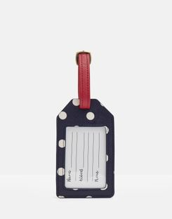 Joules UK Its Mine! Womens Luggage Tag NAVY TRAVEL TEXT