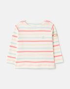 White Confetti Joules Girls Harbour Printed Long Sleeve Jersey Top 1-12 Years