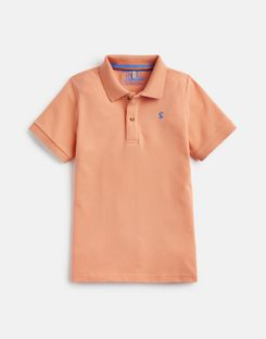Joules US Woody Older Boys Polo Shirt 1-12 Yr ORANGE