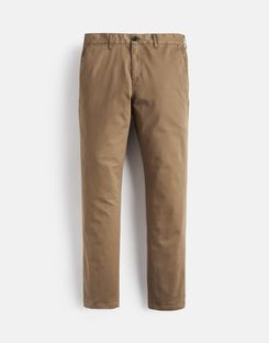 Joules US The Laundered Chino Mens Slim Fit Pants BROWN