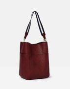 Joules Womens Wayfield Pu Bucket Bag ONE in RED in One Size