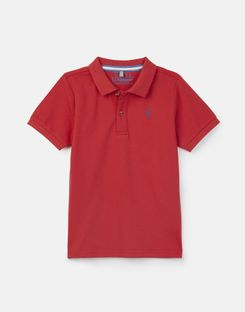 Joules US Woody Older Boys Polo Shirt 1-12 Years RED