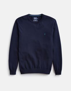 Joules US JARVIS Mens Crew Neck Sweater French Navy
