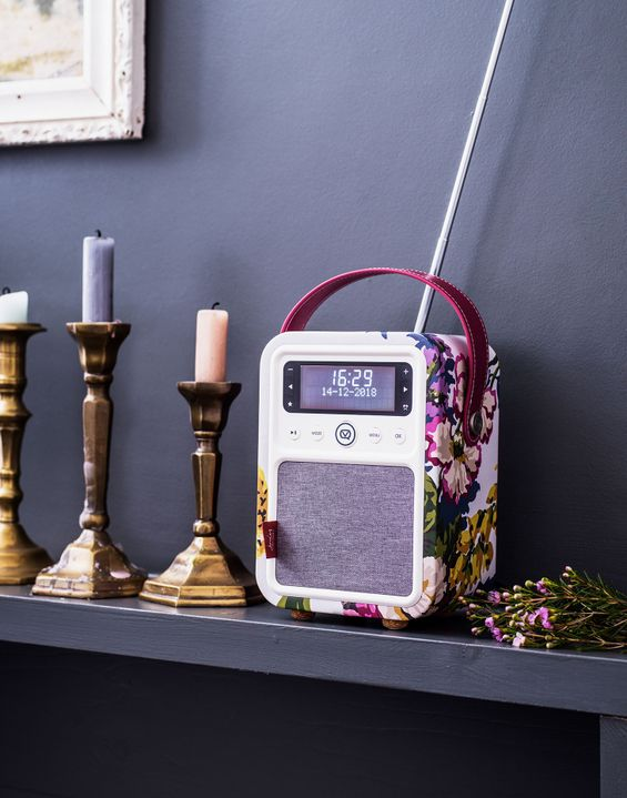Image of Anniversary Floral Cream Vq Monty Cambridge Floral Dab Digital Radio And Bluetooth Speaker Size One Size