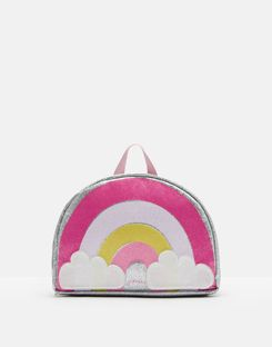 Joules US Drizzle Girls Novelty Backpack PINK RAINBOW