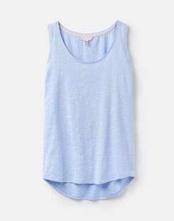 Joules US Bo Womens Jersey Tank Top LIGHT BLUE