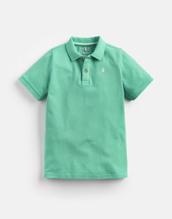 Joules US Woody Older Boys Polo Shirt 1-12 Yr BRIGHT GREEN