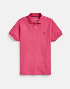 Joules UK Woody Slim Mens Fit Polo BRIGHT PINK