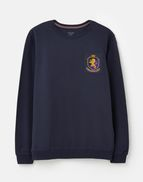 Joules Mens Dartmouth Crest Badge Crew Neck FRENCH NAVY