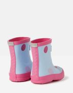 Joules 207279 Printed Wellie Boots in BLUE SPOT