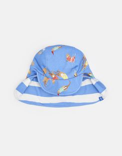 Joules US Sunny Boys Reversible Hat BLUE OTTERS