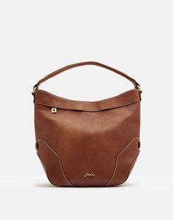 Joules US Lowesby Womens Leather Hobo Bag TAN