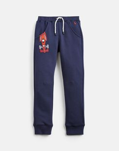 Joules US Champion Younger Boys Novelty Joggers 1-6 Yr FRENCH NAVY