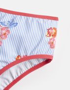 1ea87c8a8a Joules US Nyree Older Girls Ruffle Bikini Set 1-12 Yr BLUE FLORAL STRIPE