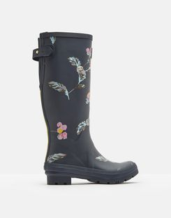 2dfd140d1daea Printed Rain Boots With Adjustable Back Gusset
