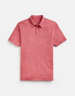 Joules UK Laundered Polo Mens Relaxed Fit Polo Shirt LIGHT PINK