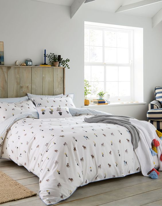 Garden Dogs Duvet Cover